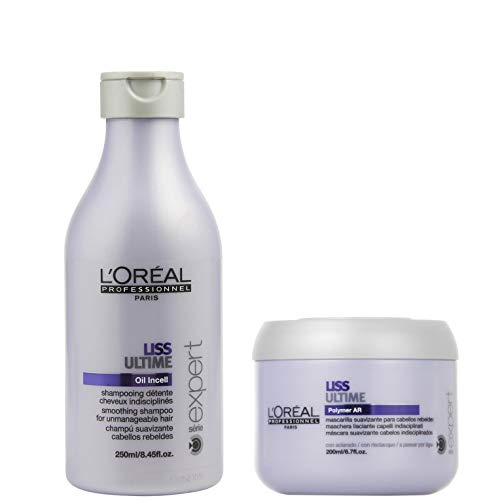 Loreal Professionnel Liss Ultime Set - Liss Ultime Oil Incell Shampoo 250ml + Liss Ultime Polymer AR Maske 200ml