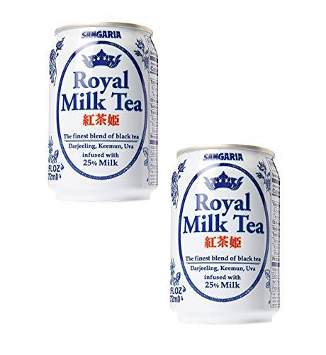 Japanese Sangaria Rich and Creamy Royal Milk Tea Can 9.2 fl oz (12 Pack)