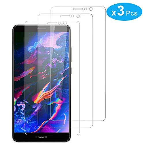 RIIMUHIR Protector De Pantalla para Huawei Mate 9, Alta Sensibilidad, Sensibilidad Táctil, Claridad HD Avanzada, Funciona con La Mayoría De Las Fundas, Paquete De 3