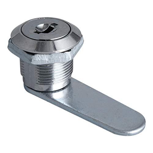 STOBOK Schubladen- Und Schrankschloss Zinklegierung Türschloss Schrank Nockenschloss mit 3 Schlüsseln für Kommodenschubladen-Industrieschalter