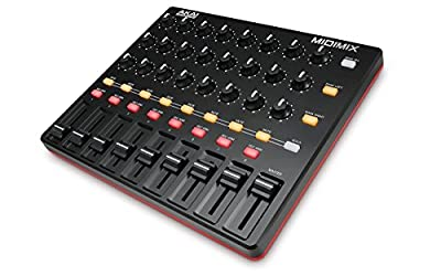 AKAI Professional MIDImix | Portable, Fully-Assignable MIDI Mixing Desk & DAW Controller With 8 Faders, 1 Master Fader, 24 Assignable Knobs and 16 Buttons Featuring 1 to 1 Mapping With Ableton Live