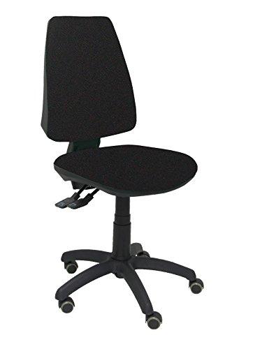 Piqueras y Crespo 14S - Silla de Oficina ergonómica con Mecanismo Sincro, Ruedas de parquet, Tejido Bali, Color Negro