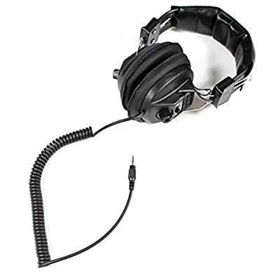Soundlab Black Stereo Headphones Coiled Cable With Volume Control
