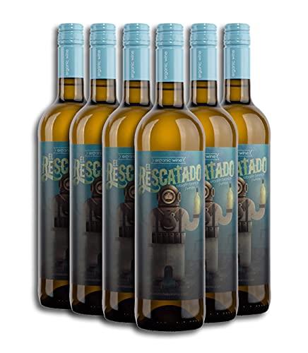 Vino Blanco ECOLÓGICO - Leyenda del Páramo - El Rescatado - Vino Premiado - Caja de 6 botellas de 75 cl. - Envio en caja protectora de alta resistencia para un transporte 100% seguro