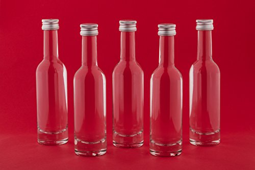 24 x kleine Flaschen 50 ml Schnapsflaschen BOR 1. KLASSE GLAS Likörflaschen mini Fläschchen Miniatur Nr. 40ML slkfactory
