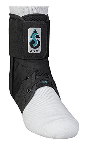 ASO Ankle Stabilising Brace, Black, Medium, for Ankle Injuries by G&M Ltd