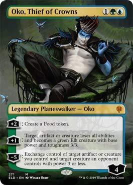 Magic: The Gathering - Oko, Thief of Crowns - Borderless - Throne of Eldraine