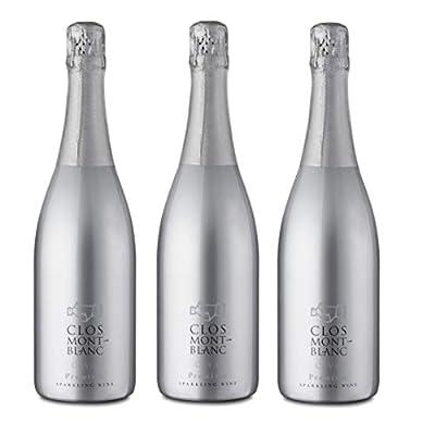 CLOS MONTBLANC Cava Brut Premium - Spanish Sparkling Wine 75cl, Case of 3