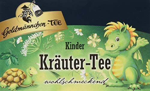 Goldmännchen Kinder Kräutertee, 20 einzeln versiegelte Teebeutel, 3er Pack (3 x 30 g)