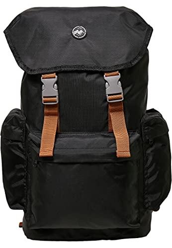 Urban Classics Hiking Recycled Backpack, Mochila Unisex Adulto, Negro, Einheitsgröße