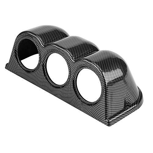 KIMISS Universal 52mm 3-Orificios Soporte de Montaje en Orificios del medidor de Tablero, Soporte para Salpicadero para Medidor de achómetro