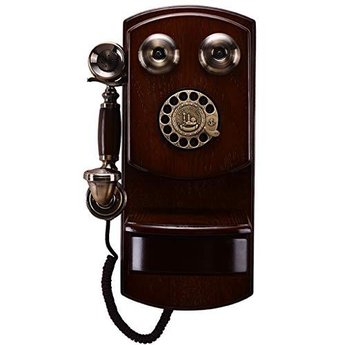 DHSAFG klassieke antieke telefoon draaibare wijzerplaat met elektronische afzuigkap Retro Europa vaste telefoon