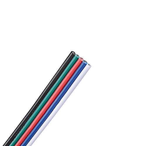 Preisvergleich Produktbild FAVOLCANO 5 Meter 5 Pin Verlängerungskabel für 3528 5050 RGBW RGBWW LED Streifen