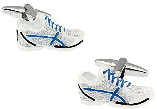 Boutons de manchette de chaussures de course dans un coffret de luxe GRATUIT pour Ashton et Finch. Nouveauté Sport Athlétisme Thème Bijoux