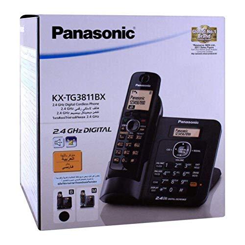 Panasonic Single Line 2.4GHz KX-TG3811BX Digital Cordless Telephone (Black)