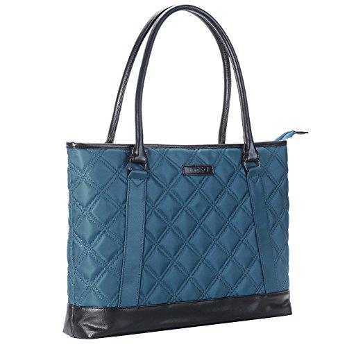 Laptop Tote Bag, DTBG 15.6 Inch Nylon Classic Diamond Pattern Travel Business Computer Shoulder Bag Carrying Briefcase Handbag For 15 - 15.6 Inch Laptop / Notebook / MacBook / Ultrabook /Tablet,Blue