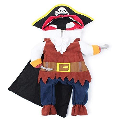 Ropa para Perros, Disfraz de Disfraz de Perro Pirata de Halloween Disfrazarse Ropa de Fiesta para Perros Gatos Cachorros Halloween Navidad Fiesta de Pascua Actividad de Fiesta(M)