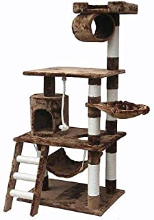 MOCHA Cat Condo Tower Scratching Post Activity Tree House Furniture