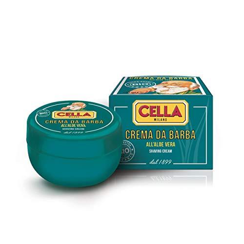 Cella Milano Jabón de Afeitar Orgánico BIO Alloe Vera Cella Milano 150ml 200 g