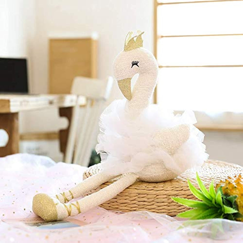 Hffbyvty Poupées de Flamingo, Jouets en Peluche, poupées de Fille de Fille de Fille, Cadeaux d'anniversaire 50 cm (Hauteur Assise 35 cm) pale