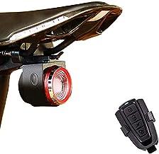 XIAOKOA Smart Bike Tail Light ، أضواء دراجة مع USB قابلة لإعادة الشحن أضواء فرامل الدراجة ، مصابيح خلفية ملونة لركوب الدرا...