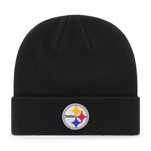 OTS NFL Pittsburgh Steelers Raised Cuff Knit Cap, Black, X-Large