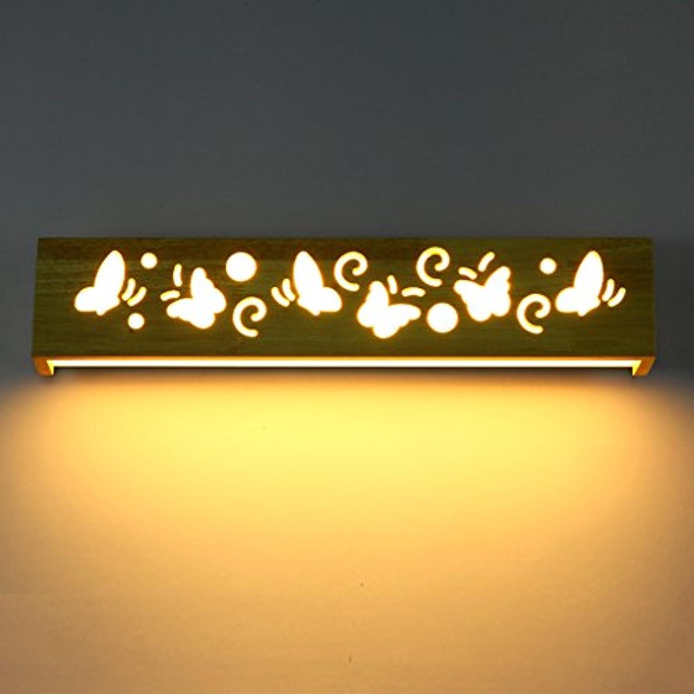Massivholz Wandleuchte modern minimalistischen Badezimmer Make-up Spiegel vorne Lampe Schlafzimmer LED Nachttischlampe