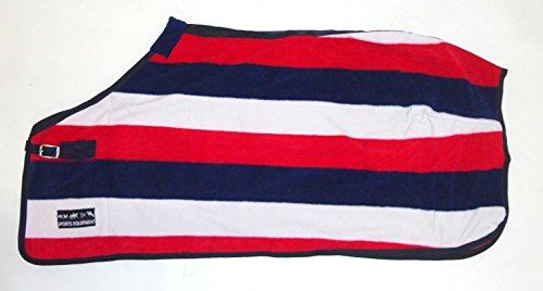 HKM 550813 Abschwitzdecke fashion stripes mit Kreuzgurt, L