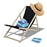 TolleTour reclining sun lounger foldable garden lounger beach lounger beach lounger for the garden, terrace and balcony 126 kg max.