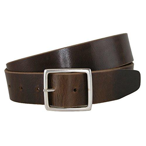 CrookhornDavis Men's Douglas NoHo Center Bar Pull Up Casual Leather Jean Belt,