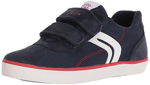 Geox Jungen J Kilwi I Low-top Sneaker, Blau (Navy/Red), 37 EU