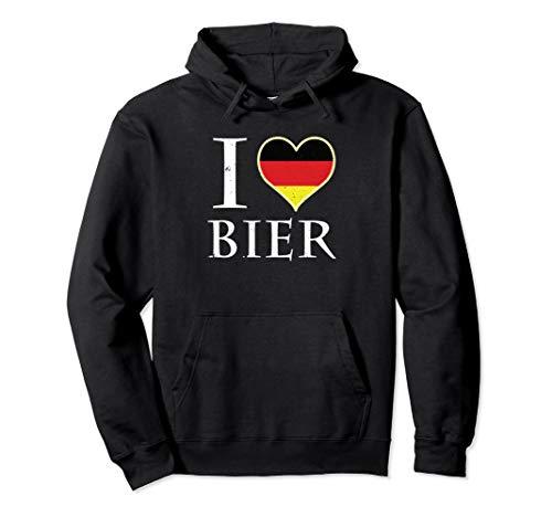l Love Beer Bier Oktoberfest Deutsches Bier Pullover Hoodie