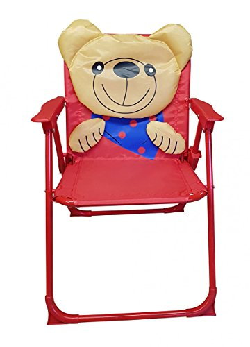 Fachhandel Plus Kinder-Klappstuhl Kinderstuhl Campingstuhl Gartenstuhl versch. Motive wählbar, Motiv:Bär