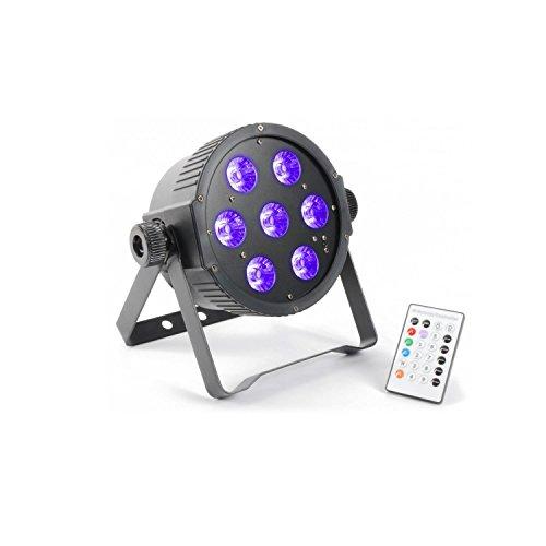 BeamZ FlatPAR Negro - Accesorio de discoteca (Negro, LED, 7 lámpara(s), 18...