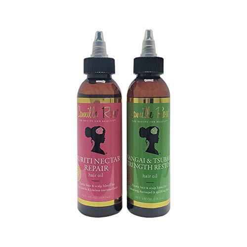 Camille Rose Nangai&Tsubaki Strength Restore Hair Oil+Buriti Nectar Repair Hair Oil. 2PC'SET'