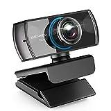 donshvi 1080p webcam con micrófono, cámara profesión transmisión en vivo de belleza web para pc mac portátil para videollamadas conferencia de grabación