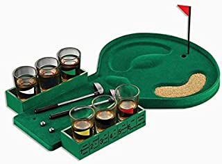 Mini Table Golf Drinking Game Set with Shot Glasses 2 Putters 2 Balls Adults Party Supplies Toys Gifts Family Indoor Board...