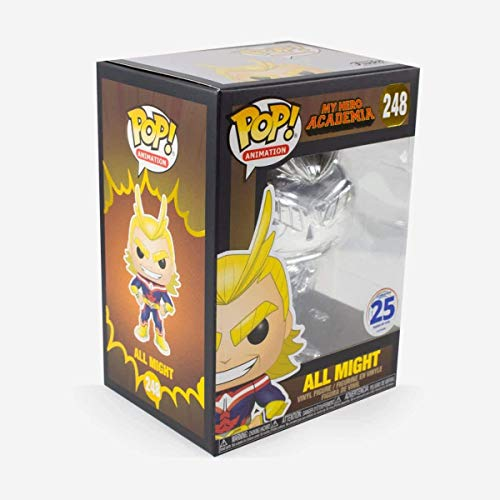 Funko Pop! 2019 NYCC Exclusive All Might (Silver-Chrome) My Hero Academia