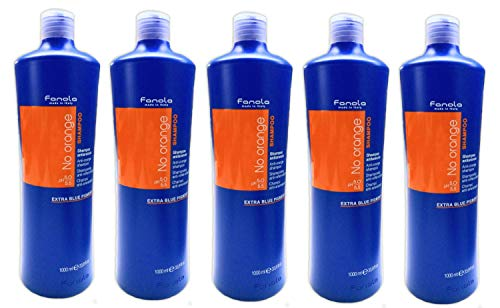 5er No Orange Anto Orange Shampoo Fanola Made in Italy Extra Blue Pigment 1000 ml