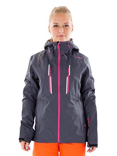 CMP ski-jack snowboardjas winterjas grijs waterdicht ClimaProtect® maat 38 3W01046