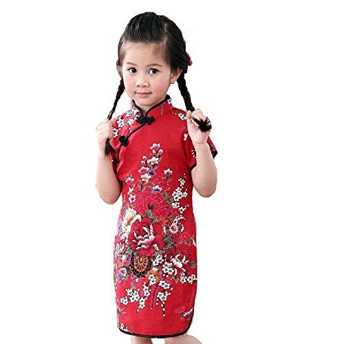 Hooyi Girls Flower Dress Qipao Cheongsam 2-16Year...