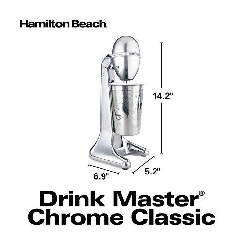 Hamilton Beach 730C DrinkMaster Classic Drink Mixer, 28 oz Mixing Cup, Chrome