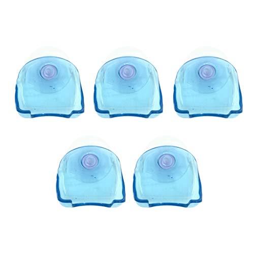 MERIGLARE 5 Pcs en Plastique Rasoir Porte-Brosse à Dents Crochets D'aspiration pour Salle De Bain Salle De Bain - Bleu