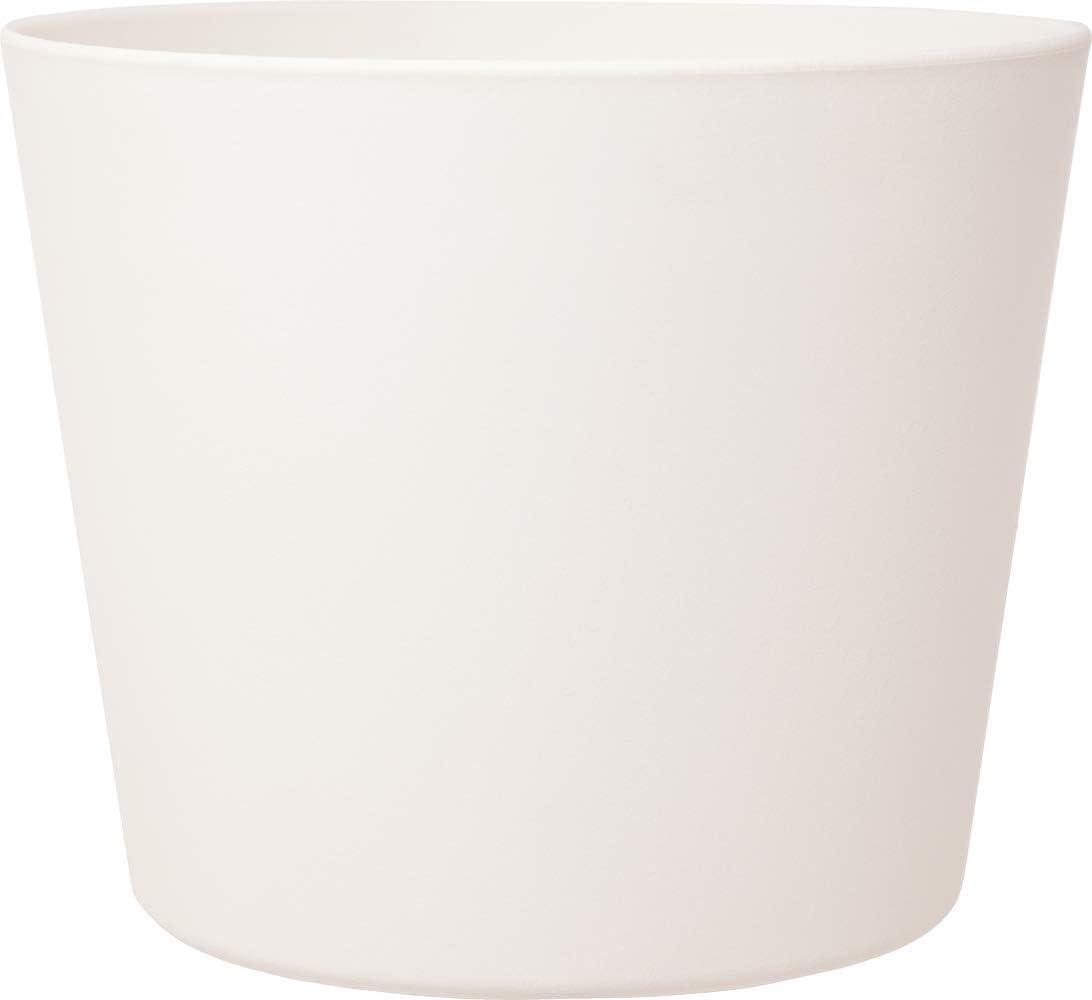 Leni P 0836-1 Flori 14 - Maceta (diámetro de 14 x 12 cm, diámetro de 14 cm, Altura de 12 cm), Color Blanco Mate