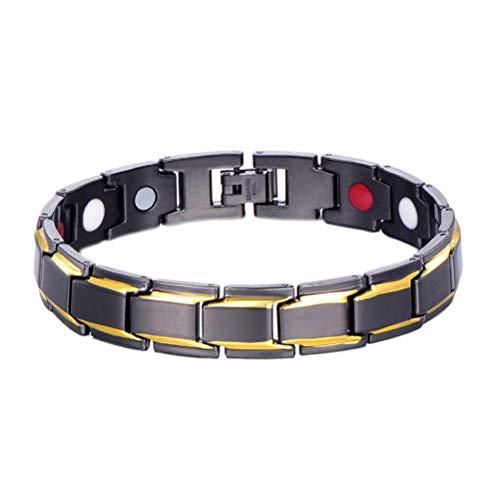Phayee mannen gezondheid energie armband magneettherapie armband voor artritis met verrekijker Duitsland poeder neodymium magneet negatieve ionen armband
