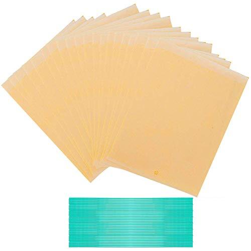 JAHEMU Trampas pegajosas Amarillas Trampas de Mosca Doble Cara Control de Insectos al Aire Libre atrapamoscas para Mosquitos, pulgones, Moscas Blancas, minadores de Hojas 20 Piezas (6 x 8 Pulgadas)
