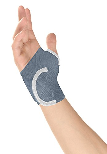 Healthgenie Wrist Brace with Thumb Support One Size Fits Most - 1 Piece (Grey)