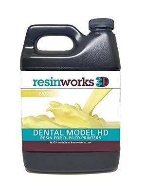 Resinworks 3D printer resin Dental Model ivory - 500g bottle