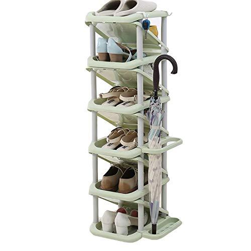XQYPYL Zapatero el Plastico con 6 Niveles, Organizador de Zapatos, Torre Vertical para el Hogar, Estantes para el Salón, Vestidor y Pasillo,06,32cm*28cm*101cm