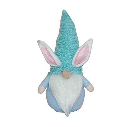 BIBOKAOKE Osterdeko Plüsch-Zwerg Puppe liefert Karikaturk aninchenform niedliche gesichtslose Osterndekoration Verzierungen Cute Hasenohren für Zuhause Party-Dekoration Oster-Plüsch-Spielzeug